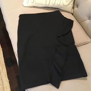NWOT Ruffle pencil skirt